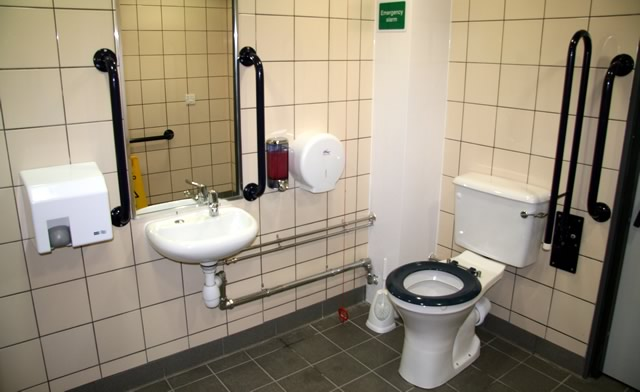 Leisure Centre Changing Room Toilets